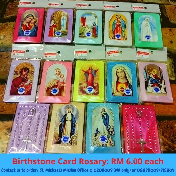 Birthstone Card Rosary RM 6.00 each