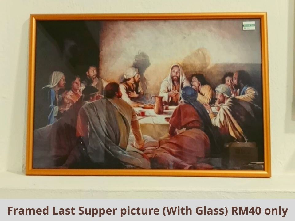 Framed Last Supper picture (With Glass) RM40 only