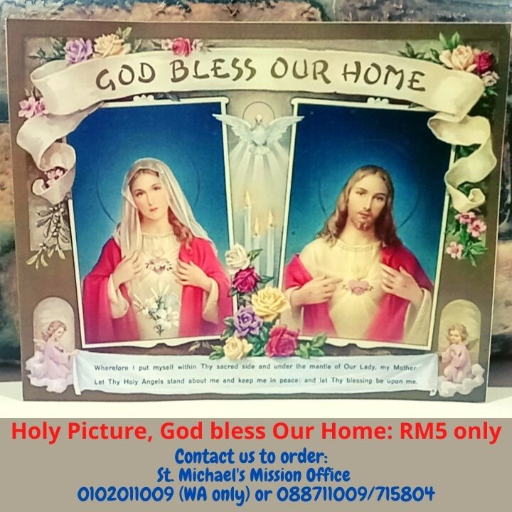 Holy Picture, God bless Our Home RM5 only