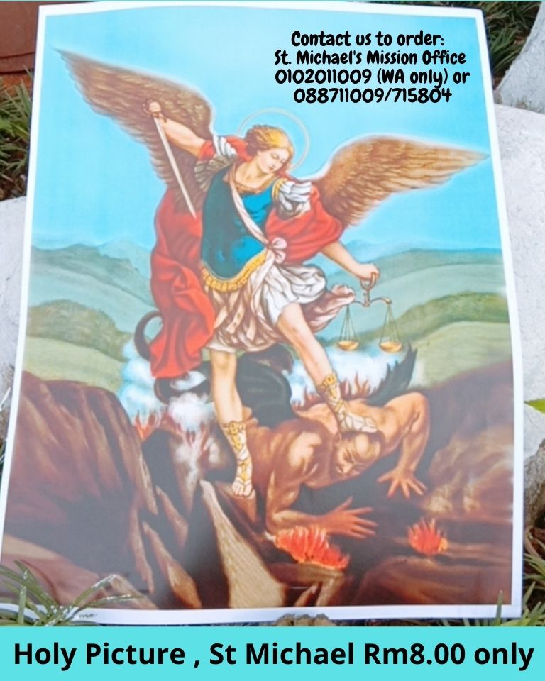 Holy Picture , St Michael Rm8.00 only