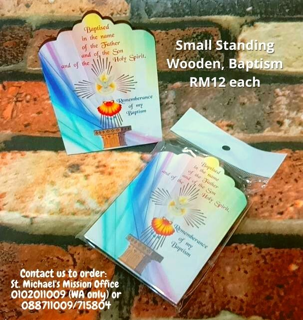 Small Standing Wooden, Baptism RM12 each
