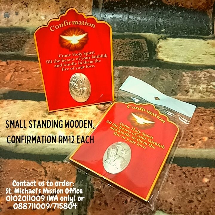 Small Standing Wooden, Confirmation Rm12
