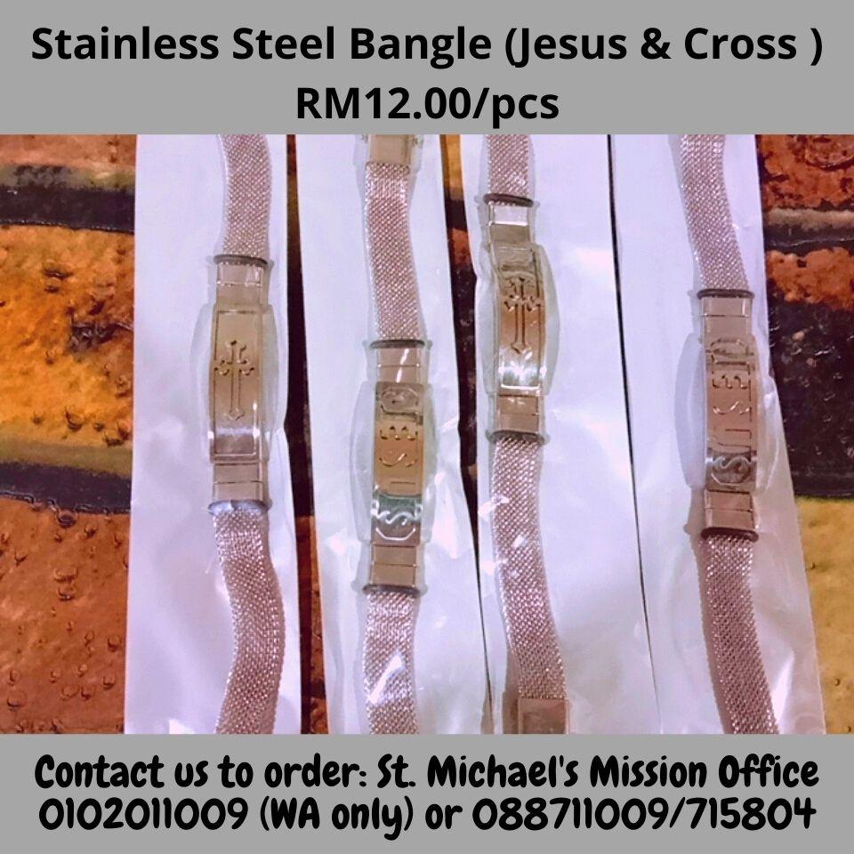 Stainless Steel Bangle ( Jesus & Cross ) Rm12
