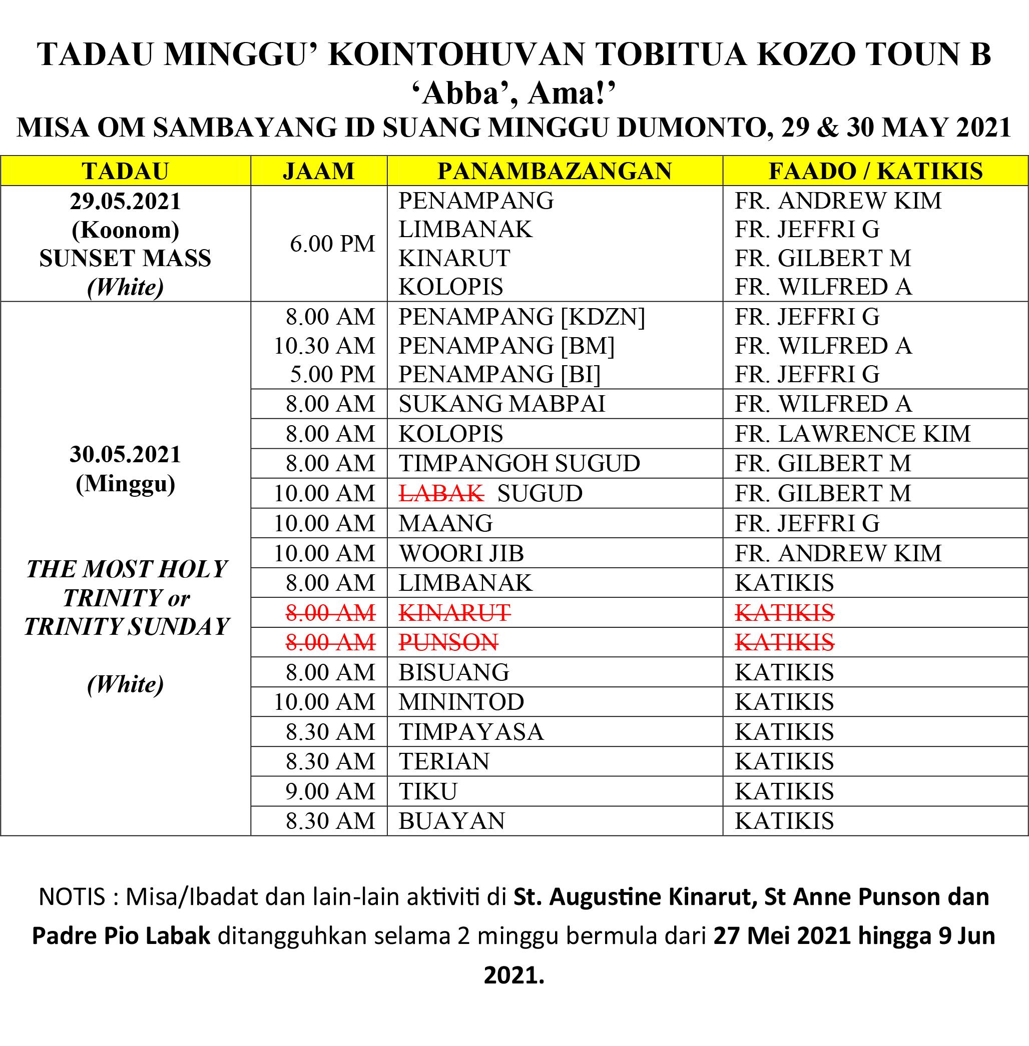 Jadual Misa_22 & 23 May 2021 (Pentecost Sunday)-2